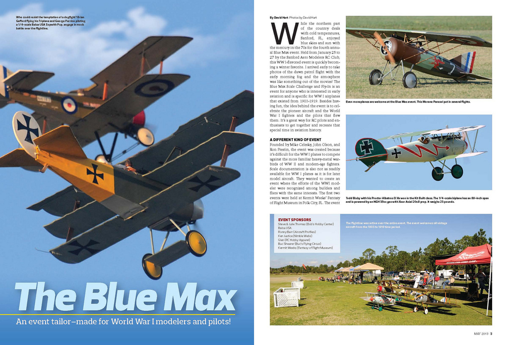 My Dr-1 Triplane in flight at the Blue max 2013